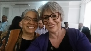 Professor Elizabeth Anionwu and me